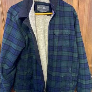 Men's large classic fit Eddie Bauer fuzzy jacket